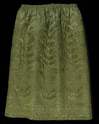Full view of green petticoat.