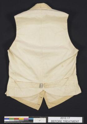 Back of waistcoat.