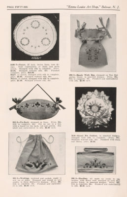 Page from trade catalog featuring bags.